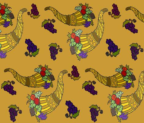 FALL HORNS OF PLENTY fabric by bluevelvet on Spoonflower - custom fabric