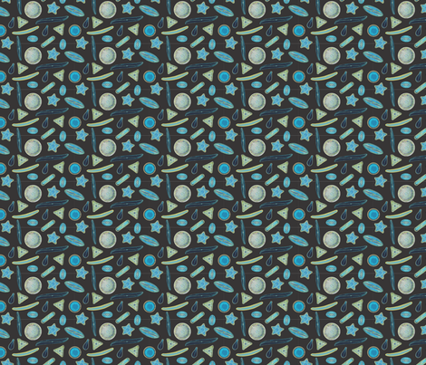 Diatoms fabric by renelope on Spoonflower - custom fabric