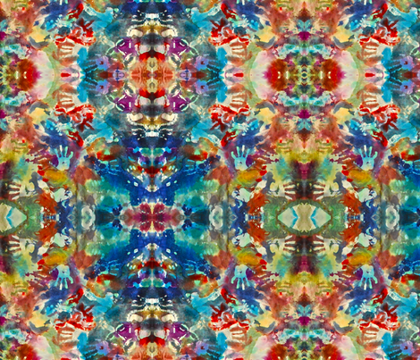 Baby hands Kaleidoscope fabric by walkwithmagistudio on Spoonflower - custom fabric