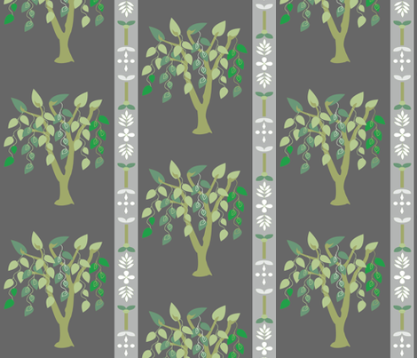 greens-gray-willow fabric by amy_frances_designs on Spoonflower - custom fabric