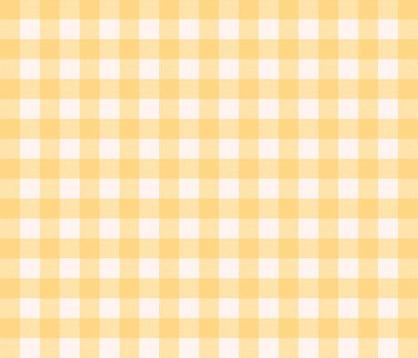 yellow blush gingham fabric by mojiarts on Spoonflower - custom fabric