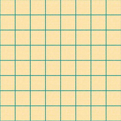 teal yellow checks fabric by mojiarts on Spoonflower - custom fabric