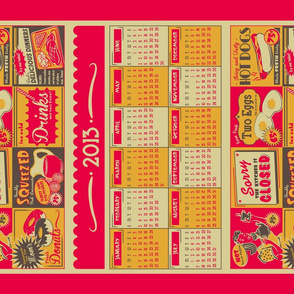 Retro Kitchen (Advertising) ~ 2013 Calendar/Tea Towel **FOR LINEN**