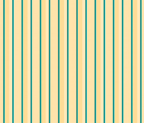 teal yellow stripes 4 fabric by mojiarts on Spoonflower - custom fabric