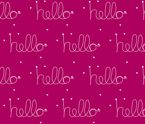 hello haute pink fabric by ninaribena on Spoonflower - custom fabric