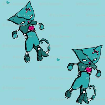 zombie cat fabric