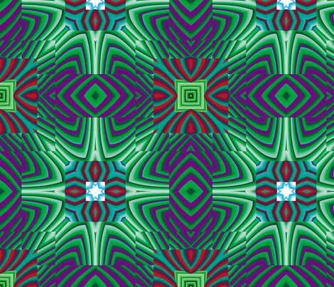 Flowery Incan Tiles 20 fabric by animotaxis on Spoonflower - custom fabric