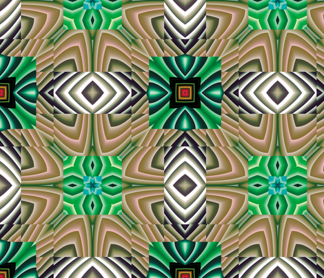Flowery Incan Tiles 22 fabric by animotaxis on Spoonflower - custom fabric