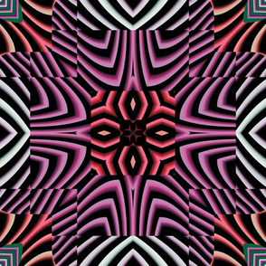 Flowery Incan Tiles 24