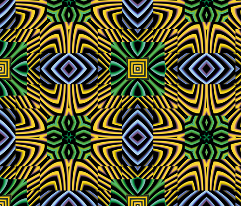 Flowery Incan Tiles 25 fabric by animotaxis on Spoonflower - custom fabric