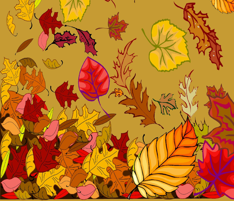 FALL TABLECLOTH fabric by bluevelvet on Spoonflower - custom fabric