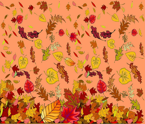 AUTUMN LEAVES CHEATER QUILT fabric by bluevelvet on Spoonflower - custom fabric