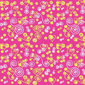 hearts and swirls pink