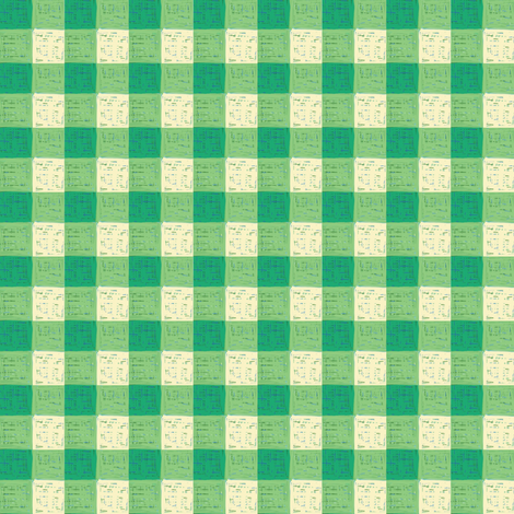 green yellow gingham fabric by mojiarts on Spoonflower - custom fabric