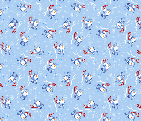 SnwMn2Col4PRINT fabric by andi_butler on Spoonflower - custom fabric