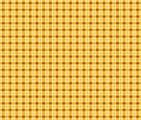 pumpkin rough plaid fabric by mojiarts on Spoonflower - custom fabric