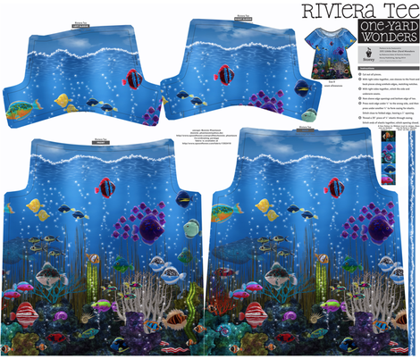 One yard Riviera Tee: Underwater Love