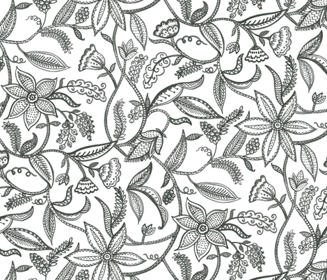 Climbing plants fabric by chulabird on Spoonflower - custom fabric