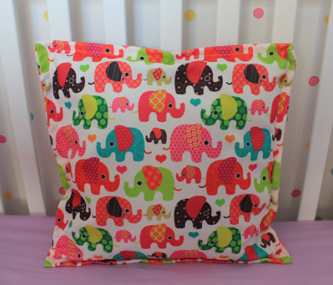 Cute retro kids elephant pattern fabric