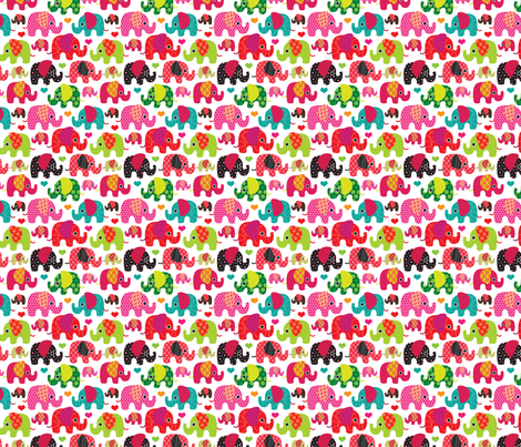 Cute retro kids elephant pattern fabric fabric by littlesmilemakers on Spoonflower - custom fabric