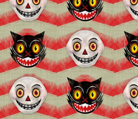 Kitterskull Chevron fabric by jessamarie on Spoonflower - custom fabric