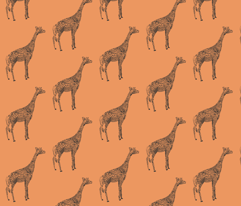 Giraffe Color fabric by kanikamathur on Spoonflower - custom fabric