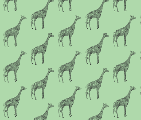 Giraffe  fabric by kanikamathur on Spoonflower - custom fabric