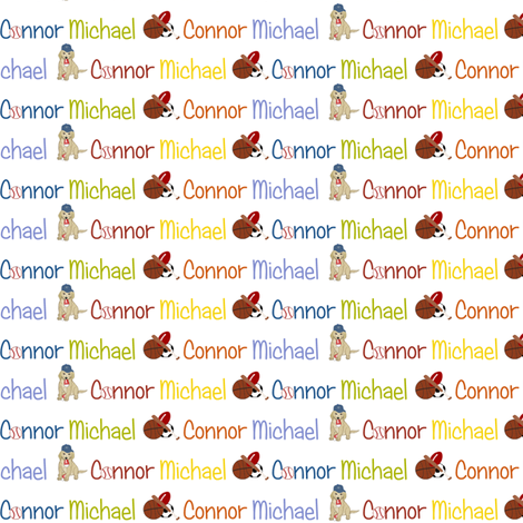 Connor Michael fabric by cksstudio80 on Spoonflower - custom fabric