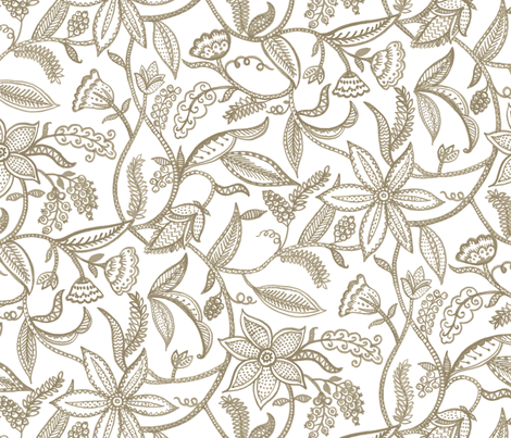 Climbing plants__natural fabric by chulabird on Spoonflower - custom fabric