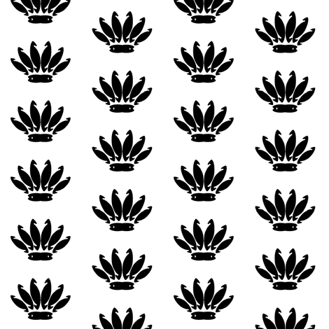 reed_hook_flower_crown_spaced_repeatmotif fabric by allanamay on Spoonflower - custom fabric