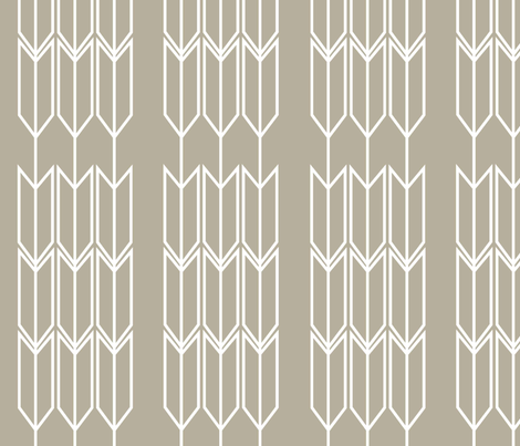 Natural Arrow fabric by designedtoat on Spoonflower - custom fabric