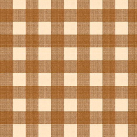 brown gingham fabric by mojiarts on Spoonflower - custom fabric
