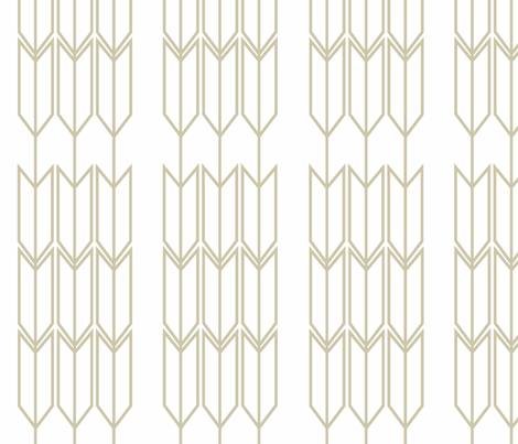 Natural Arrow ii fabric by designedtoat on Spoonflower - custom fabric