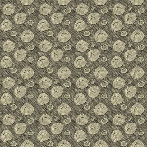 "Sketchydots: ""Big"" Dot Coordinate - Antique Yellow fabric by tallulahdahling on Spoonflower - custom fabric"