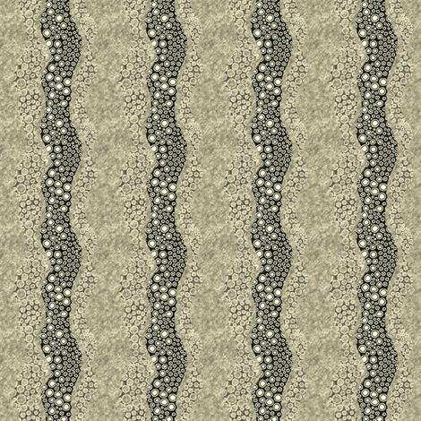 Sketchydots: Wave - Antique Yellow fabric by tallulahdahling on Spoonflower - custom fabric