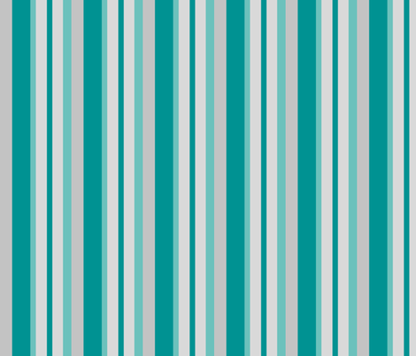 teal grey stripes fabric by mojiarts on Spoonflower - custom fabric