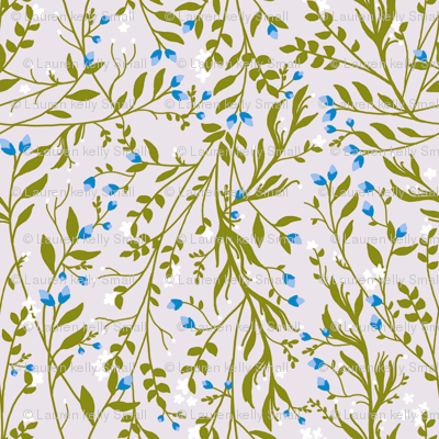 Sage Green Vine, Frost Blossom