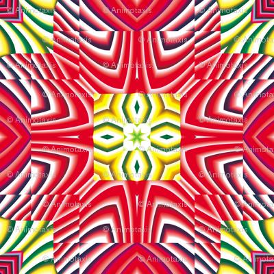 Flowery Incan Tiles 27
