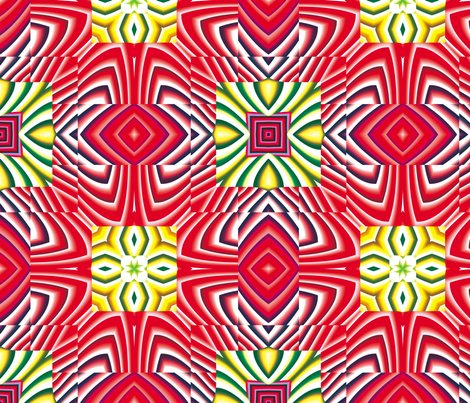 Flowery Incan Tiles 27 fabric by animotaxis on Spoonflower - custom fabric