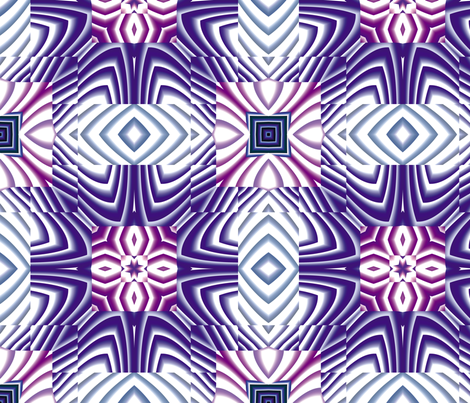 Flowery Incan Tiles 29 fabric by animotaxis on Spoonflower - custom fabric