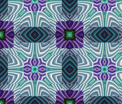 Flowery Incan Tiles 30 fabric by animotaxis on Spoonflower - custom fabric