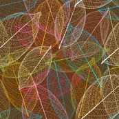 Retro autumn leaf nature pattern