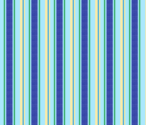 blue world stripes 12 fabric by mojiarts on Spoonflower - custom fabric