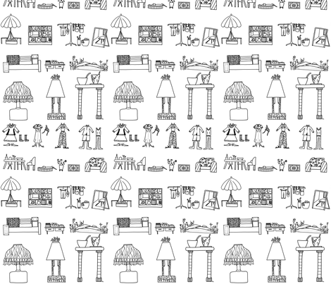alltäglich_zu_haus fabric by lissisissi on Spoonflower - custom fabric