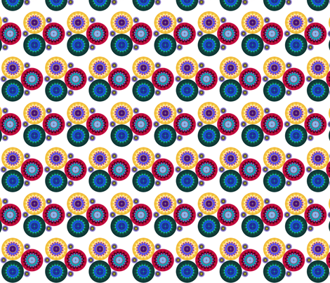Daisy Discs fabric by yewtree on Spoonflower - custom fabric