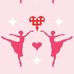 ballet duo with hearts