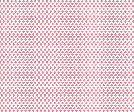 Clover in Coral fabric by honey&fitz on Spoonflower - custom fabric