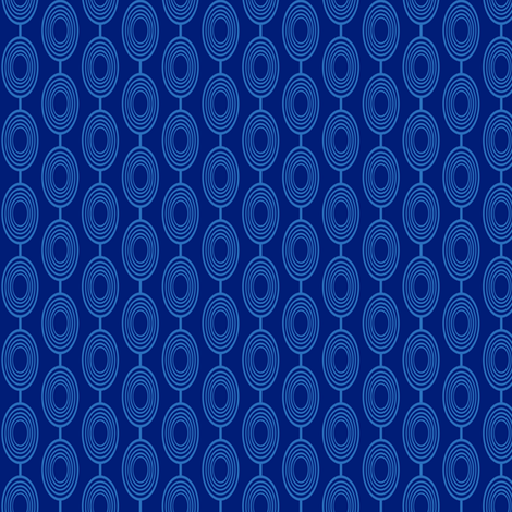 Geometric Ovals - Blue fabric by cksstudio80 on Spoonflower - custom fabric