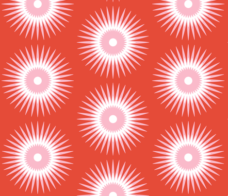 Pink Star Bursts fabric by fable_design on Spoonflower - custom fabric