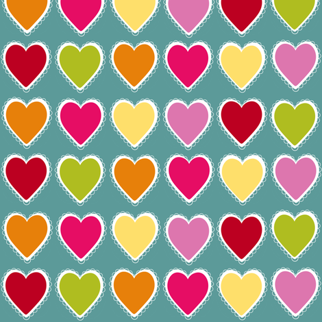 Vintage Hearts fabric by natitys on Spoonflower - custom fabric